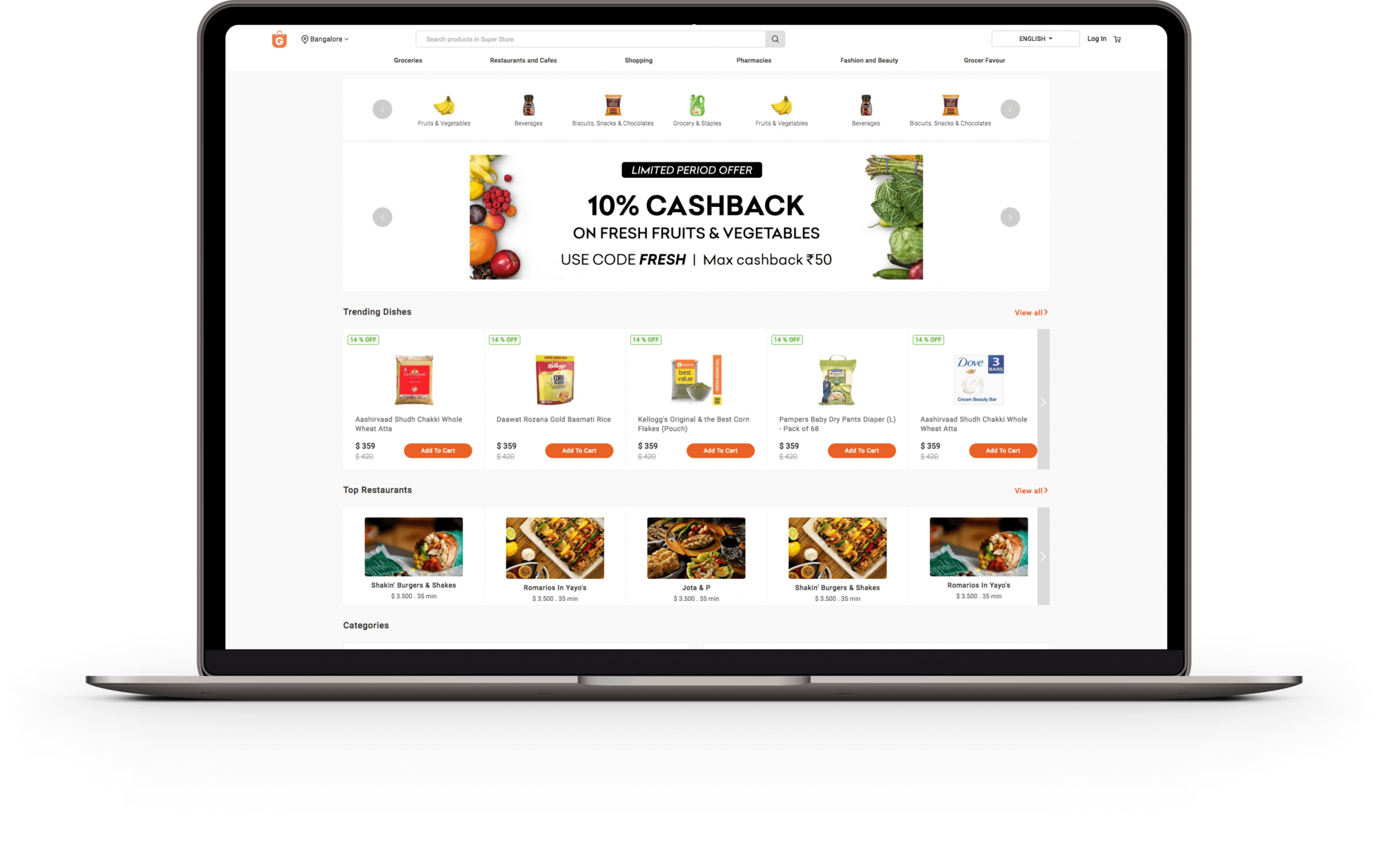 ONLINE GROCERY SHOPPING WEBSITE AND APPLICATION